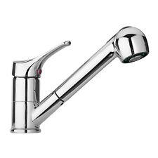 Miscelatore per lavello con doccia estraibile cucina o lavanderia ottone cromato