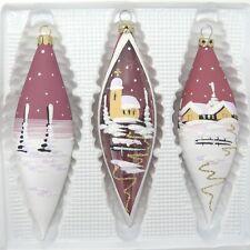 Accessori di natale 3 Pigna di Dipinto a mano Decorazione Natalizia Bourdeaux