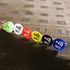 6Pcs Waterproof NFC Smart Tags Smartphone Adhesive Chip RFID Label Tag Sticker