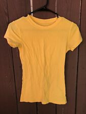 Forever 21 Womens T-shirt Top, Size: Small, Stretch, Color: Yellow