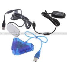 Receptor de juegos USB 2.0 - Controlador Adaptador PC inalámbrico para Xbox 360 Negro/Blanco