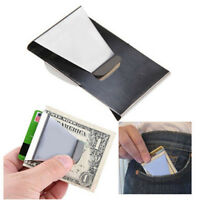 New Slim Steel Money Clip Double Sided Credit Card Holder Wallet