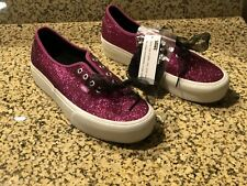 New Men's 10 Vans Authentic Glitter Platform Sneakers Pink White