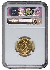 25 Gulden 1923 Freie Stadt Danzig Gold Neptunbrunnen, NGC PF 63 CAMEO
