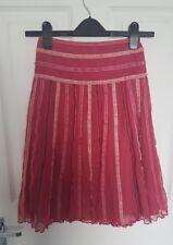 Monsoon Girls Hot Pink Striped Skirt   8-10 years Net Lined