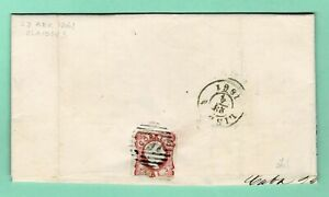 PORTUGAL Folded Letter (22Abr1861) D. Pedro 25r Rose Cameo C.V.B.A > LISBOA