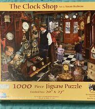 Suns Out 1000 Piece Jigsaw Puzzle The Clock Shop Art by Susan Brabeau NEW