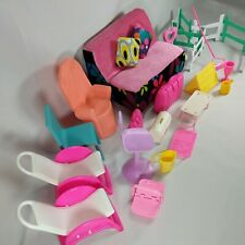 Vintage Dollhouse Furniture Accessories Lot Barbie Mattel Kelly Fisher Price