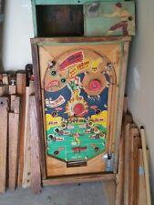 wood rail football chicago coin pinball machine 1949