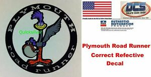 1976 1980 Plymouth Volare Road Runner Deck Lid Decal NEW