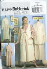 Butterick 5299 Pattern Misses' Historical Nightgown,Vest, Robe,Bonnet sz  XS - M