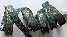"Jasdee Vintage Jacquard Border Trim Ribbon 3/4"" Width Embriodery Work # R1307"