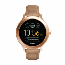 Fossil Ladies Smart Watch Venture Tan Leather Rose Gold
