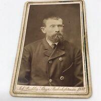 Vintage Cabinet Photo Man Posed Photograph 1888