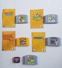 Lot of 5 Nintendo 64 N64 Cartridge Games Instruction Mario Starfox Donkey Kong