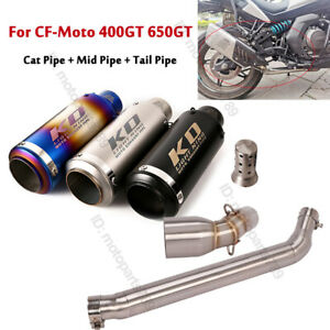 For CF-Moto 400GT 650GT Exhaust Muffler Tip Cat Connect Middle Link Pipe Slip On