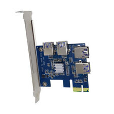 PCI-E 1X Expansion Kit 1 to 4 Ports Switch Multiplier Hub Riser Card USB Hi-Q