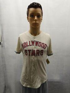 NWT Hollywood Stars Baseball Jersey Red Jacket Mens S MiLB