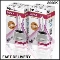 2 x D3S NEUF LUNEX XENON HID AMPOULE LAMPS compatible avec 66340 9285304244 UPT