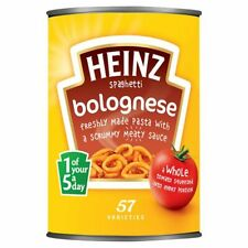 HEINZ Spaghetti Bolognese 400g x 6 Large Tins Cans LONG DATE