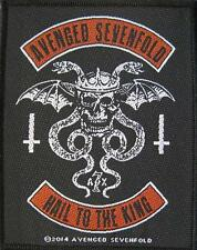 """Avenged Sevenfold ricamate/Patch # 9 """"Hail to the King"""""""