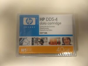 ONE New Factory Sealed HP C5718A 4mm DDS-4 Data Tape Cartridge 20GB/40GB dat40