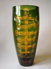 Karel WÜNSCH - MASSIVE Vase Haida Novy Bor dokumentiert by Mark HILL - DESIGN !