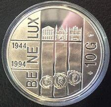 PAYS-BAS 10 Gulden 1994 Silber BENELUX Beatrix Silver