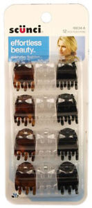 SCUNCI - Beauty 2 cm. Chunky Jaw Clips - 12 Pack