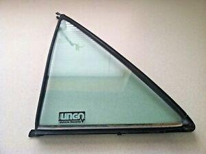 1987-1993 MERCEDES-BENZ 190E 190D W201 ~ LEFT REAR VENT DOOR GLASS ~ OEM PART