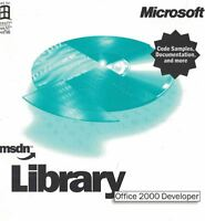 MicroSoft MSDN Library Office 2000 Developer 3 CD Set for NT/98 Platform