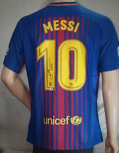Lionel Messi Signed Barcelona Jersey with CoA