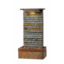 Unique Waterfall Slate Water Fountain Indoor Floor Table Lighted Home Decor