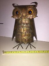 Vintage Midcentury Bruntalist Copper Owl Sculpture In The Style Of Curtis Jere