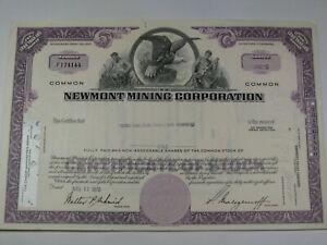 1970 Newmont Mining Corporation Stock Certificate.  #106
