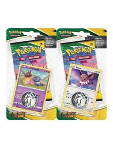 Pokémon Evolving Skies / SWSH 7 - 1 x Checklane Booster Blister Pack ENG SEALED