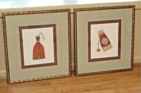 2 SOICHER MARIN STUDIOS BEADED POUCH FRAMED PRINTS