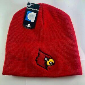 adidas Louisville Cardinals Cuffless Knit Beanie Hat - Red OSFA KZC01