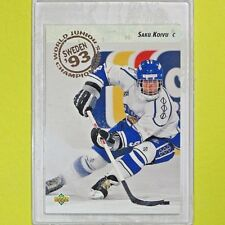 "SAKU KOIVU  1992-93  ROOKIE "" SWEDEN WORLD JUNIORS "" #617  Montreal Canadiens"