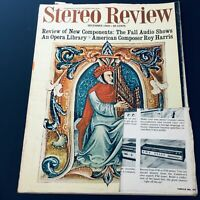 VTG Stereo Review Magazine December 1968 - American Composer Roy Harris