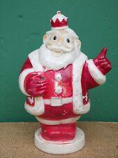 Vintage Christmas Santa Figure Hard Plastic Gilmer as-is