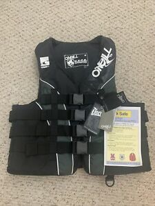 O'Neill Men's Superlite USCG Life Vest,Black/GrayWhite Size Large