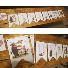 Personalised The Gruffalo Bunting Party Birthday Christening Handmade Girl Pink