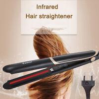 2 in1 Infrared Flat Iron Hair Straightener Curler Professional Nano Ceramic 220V