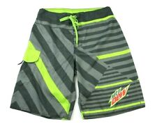 Mountain Dew Mens Size 32 Board Shorts Swim Trunks Drawstring and Side Pocket