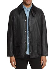 Barbour Men's Bedale Wax Cotton Jacket Waterproof Coat Black Sz 48 NWT orig $379