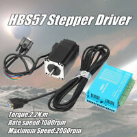 2.2N.m 57HSE2N-D25 Closed Loop Stepper Servo Motor HBS57 Stepper Driver +3m