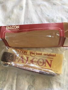 Vintage New In Box Falcon Straight Stem Pipe Rustic Bowl