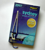 Gregory's Sydney & Blue Mountains 2007 Street Directory LARGE PRINT 71st