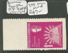 Dominican Republic 1970 SC RA48 Imperf Top Margin MNH (5cqt)